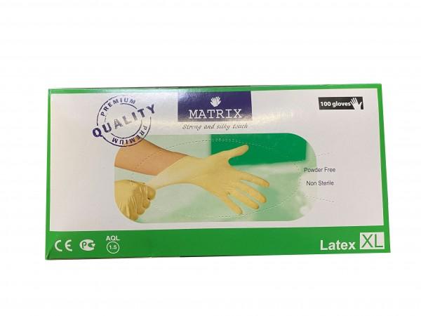 """Matrix""Handschuhe XL Weiß (100 Stk)"