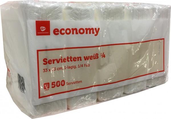Serviette Weiss ECONOMY - ( 500 Stk Pack )