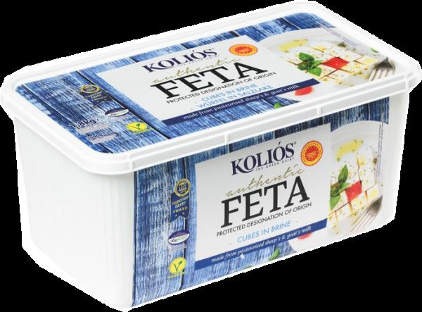 KOLIOS - FETA Schafskäse 48 %, - 2 kg Becher