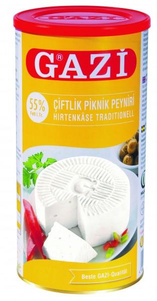 GAZI Weisskäse - ( 55% Fett ) - 800gr. Dose (6/#)