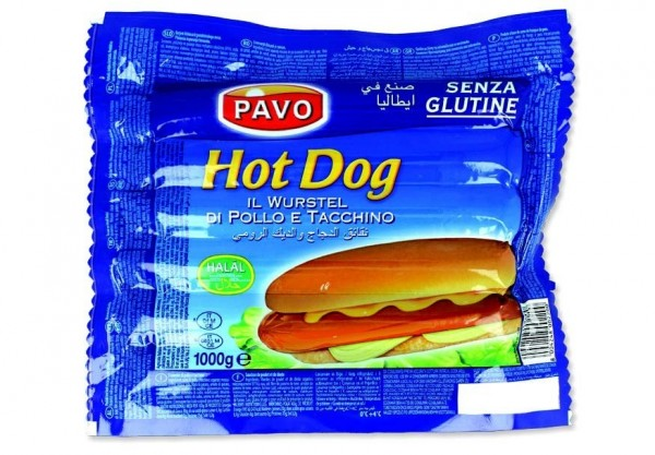 """PAVO"" HOT DOG IL WURSTEL HALAL ( 1 kg )"