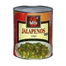 Jalapeno grün,gesch.(3000 gr.1500 gr./Dose)