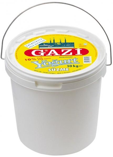 GAZI Süzme Jogurt 10% - 10 kg Kübel