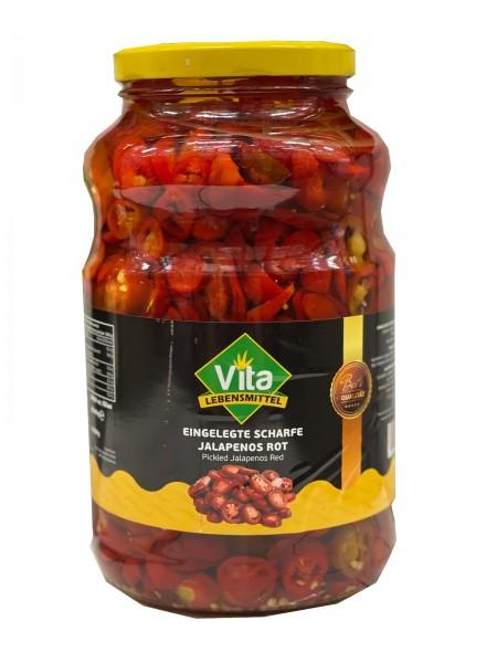 """VITA"" Jalapeno Rot geschnitten (2.650 lt, 1250 gr/glas)"