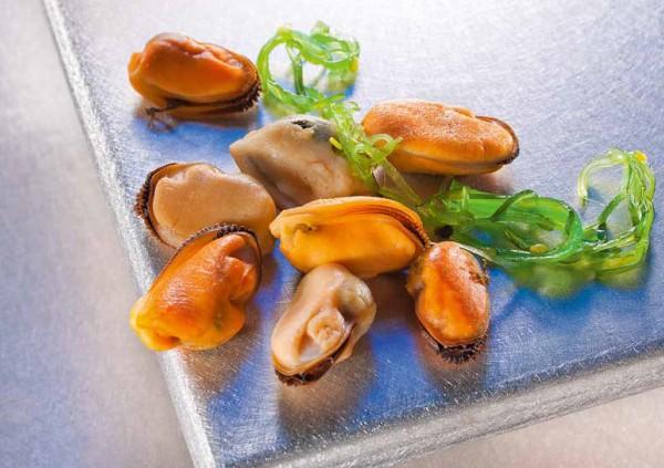 TK - Miesmuschelfleisch gekoch (100-200 1 Kg Pack)