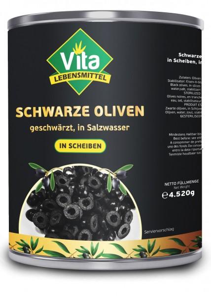 """""""VITA"""" Oliven Schwarz geschnitten (4250gr/Dose)"""