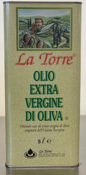 """""""La Torre"""" Extra Virgin Olivenöl (5 Liter/kanister)"""