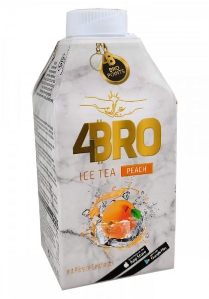 4BRO Eistee Pfirsich 0,50 Lt. (1 x 8 stk)