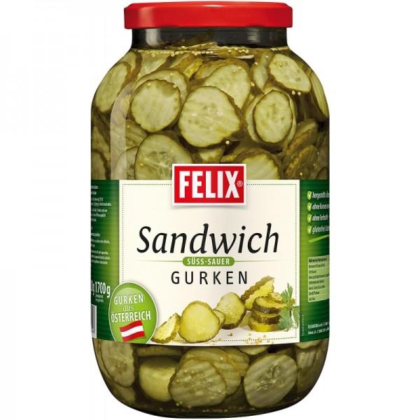 FELIX Sandwichgurken 3,4 L Glas