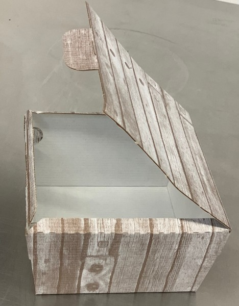 Hamburgerbox Holzdekor (15x15x9 cm-100 Stk./Pack)