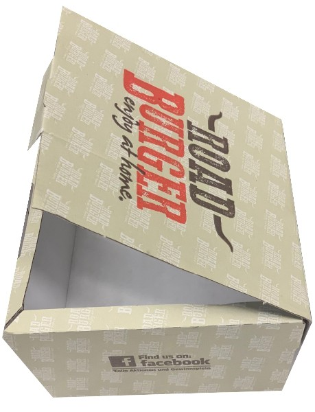 Hamburgerbox Grau (15x15x9 cm-100 Stk./Pack)