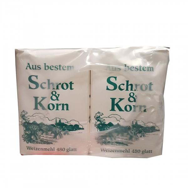 Schrot & Korn Type 480 glatt- ( 10x1 kg )