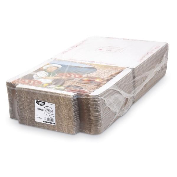 Pizza Karton Mod.France (40 x 40 x 4 cm 1x100 Stk)