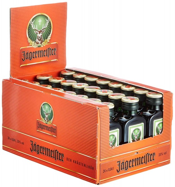 Jägermeister, (35% vol - 0,04 lt. - 1x24 Flasche)