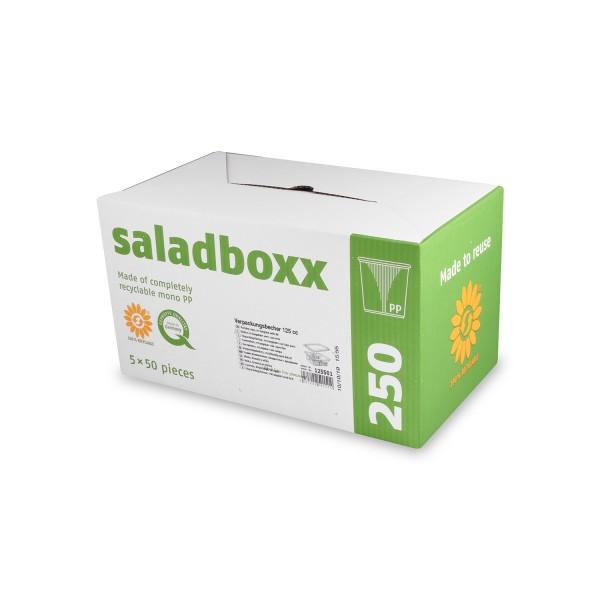 Salatschale 125 ml-eckig Kombipack(1x250 Stk)